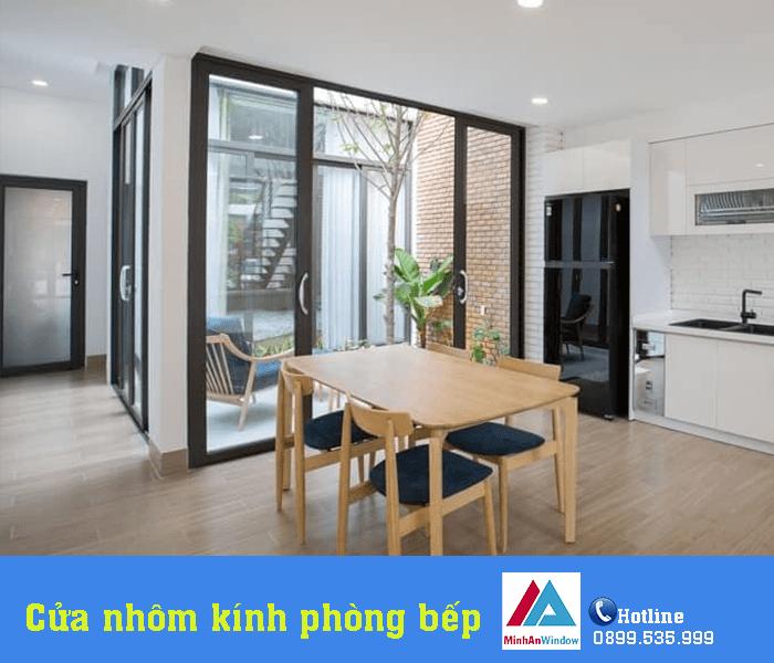 Mẫu cửa đi nhôm kính xếp trượt Minh An Window lắp đặt cho khách hàng tại Tuyên Quang