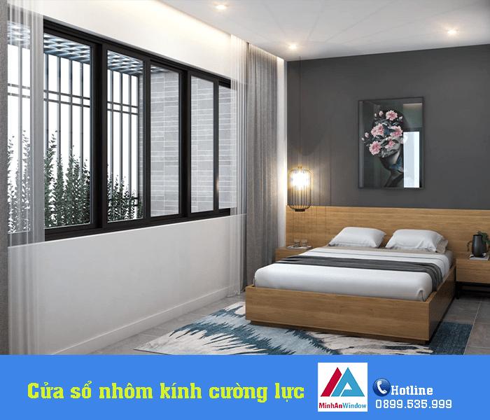 Mẫu cửa sổ nhôm kính phòng ngủ tại Sơn La do Minh An Window lắp đặt