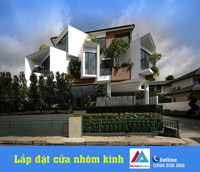 Minh An Window lắp đặt cửa nhôm kính cho công trình nhà ở