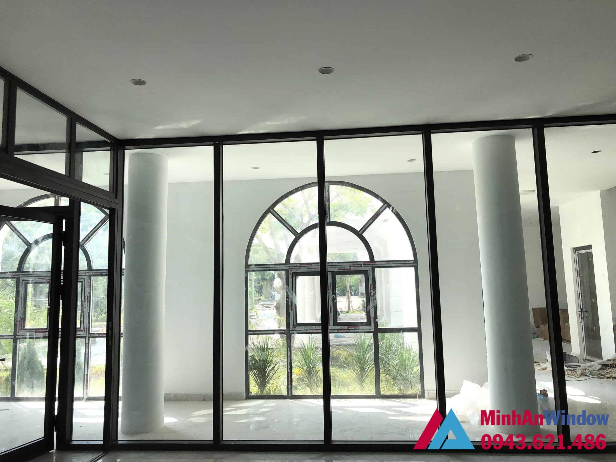 Cửa vách nhôm kính do Minh An Window thiết kế và lắp đặt