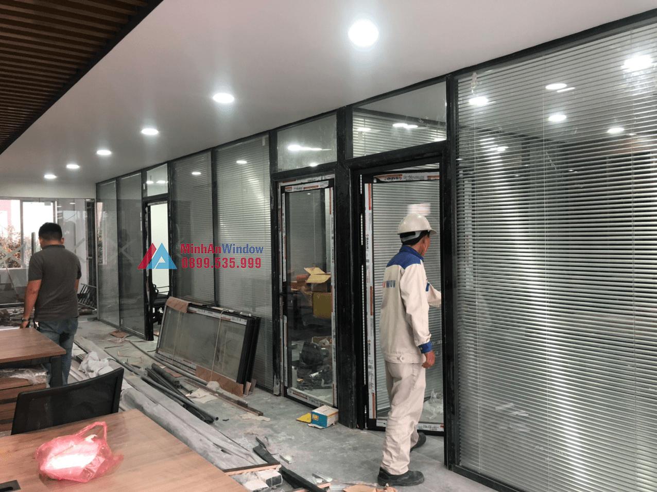 Mẫu cửa nhôm kính tại Ứng Hoà do Minh An Window lắp đặt