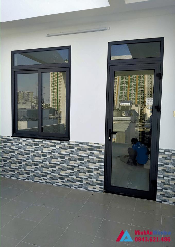 Mẫu cửa sổ và cửa đi nhôm kính tại Ứng Hoà do Minh An Window lắp đặt
