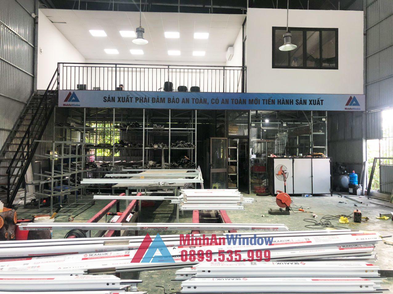 Xưởng sản xuất cửa nhôm kính của Minh An Window