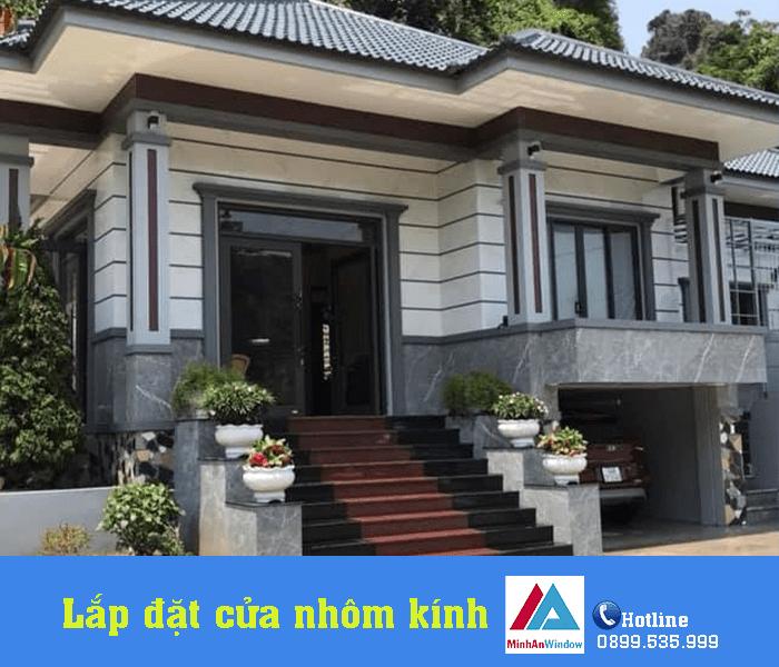 Công trình cửa nhôm kính Minh An Window lắp đặt nhà ở tại quận Hà Đông