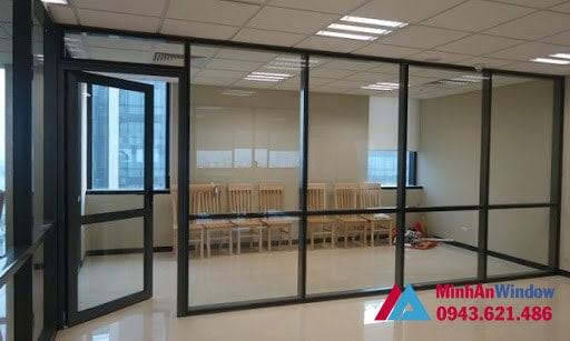 Minh An Window lắp đặt vách nhôm kính cho dự án nhà biệt thự tại quận Hà Đông