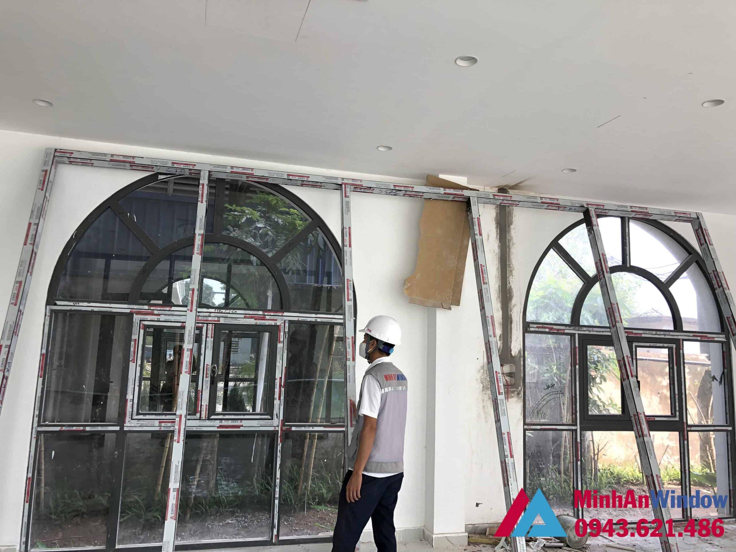 Công trình cửa nhôm kính do Minh An Window thiết kế và thi công
