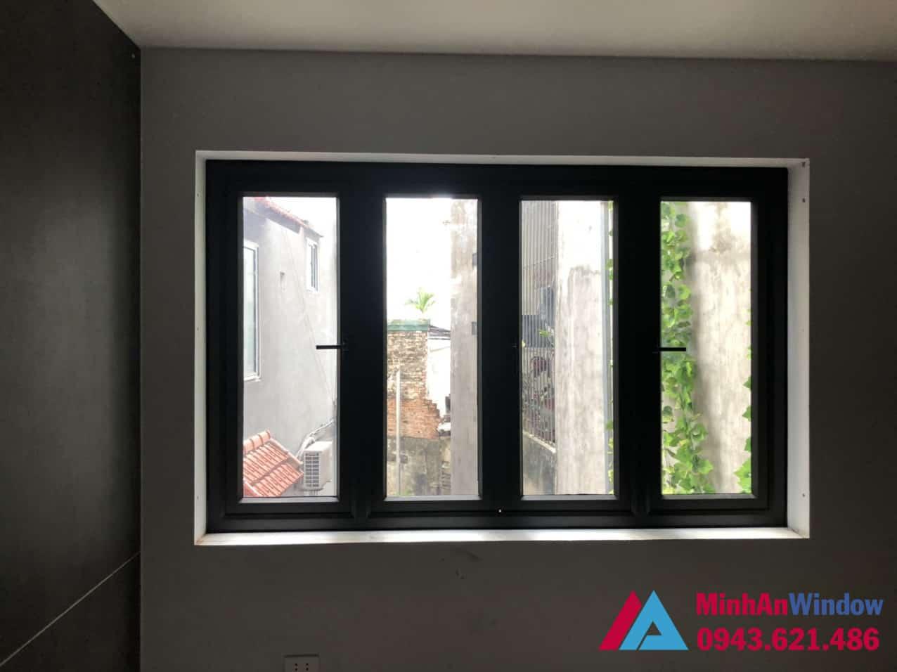 Mẫu cửa sổ nhôm kính 4 cánh Minh An Window lắp đặt cho nhà ở tại quận Nam Từ Liêm - Hà Nội