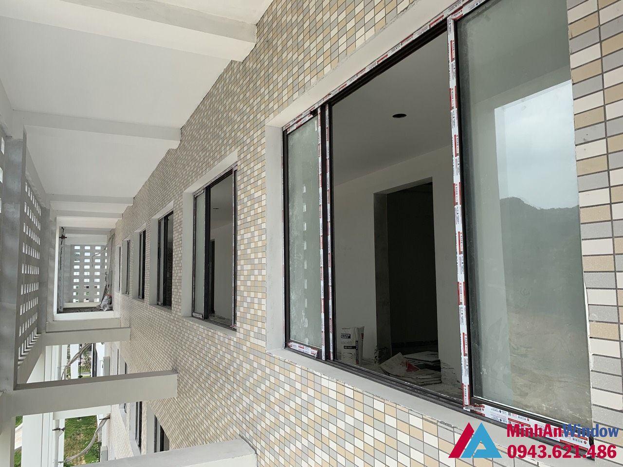 Minh An Window lắp đặt các bộ cửa sổ nhôm kính cho UBND huyện Đồng Hỷ - Thái Nguyên