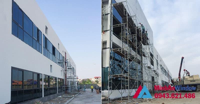 Minh An Window thi công cửa nhôm kính tại cụm CN Ninh Hiệp - Hà Nội