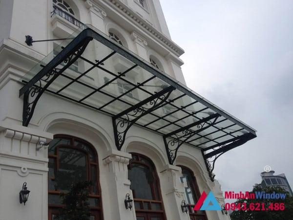 Mẫu mái kính khung sắt Minh An Window lắp cho khách hàng tại huyện Chương Mỹ