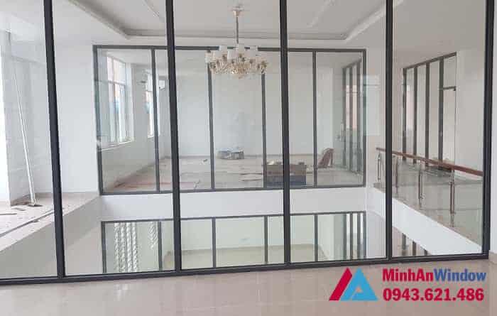 Mẫu cửa vách nhôm kính tại KCN Thạch Thất Quốc Oai do Minh An Window lắp đặt