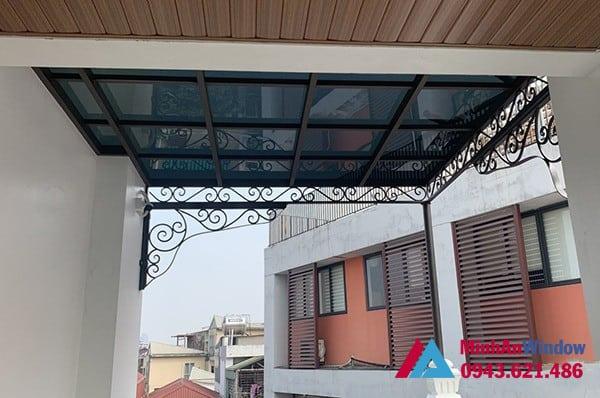 Mẫu mái kính nghệ thuật Minh An Window lắp đặt cho khách hàng tại huyện Đông Anh