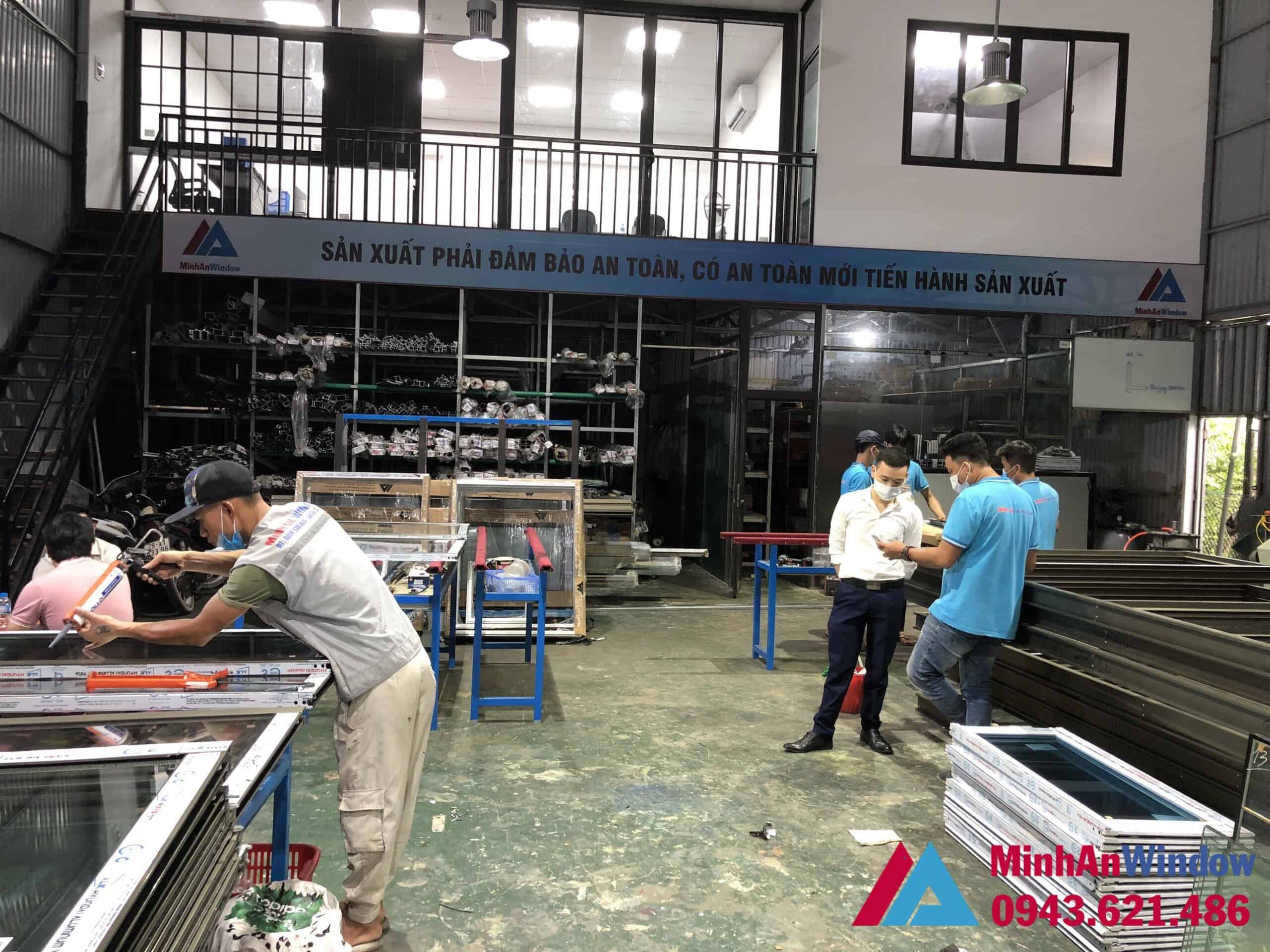 Minh An Window sản xuất cửa nhôm kính cho KCN Tân Quang - Hà Nội