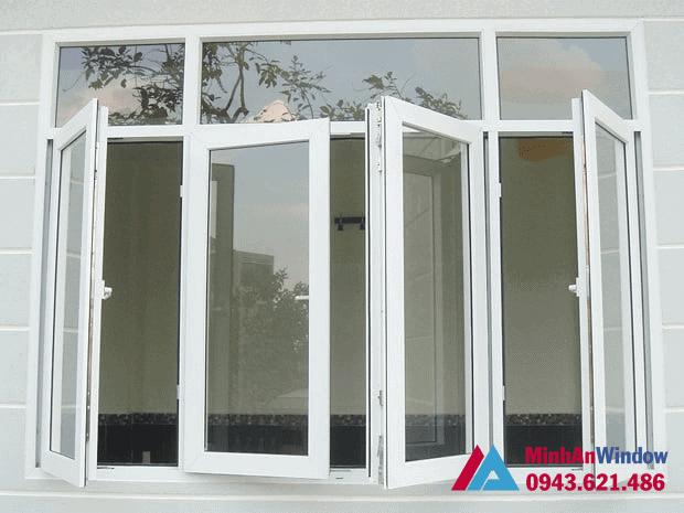 Mẫu cửa nhôm kính Việt Pháp tại KCN Thạch Thất - Hà Nội Minh An Window lắp đặt