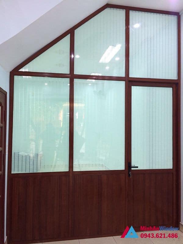 Mẫu cửa vách nhôm kính Minh An Window lắp đặt tại KCN Thăng Long - Hà Nội