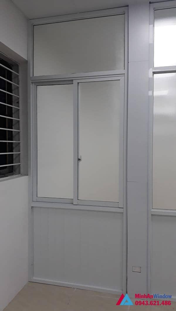 Mẫu cửa nhôm kính Minh An Window lắp đặt cho khách hàng tại huyện Mỹ Đức