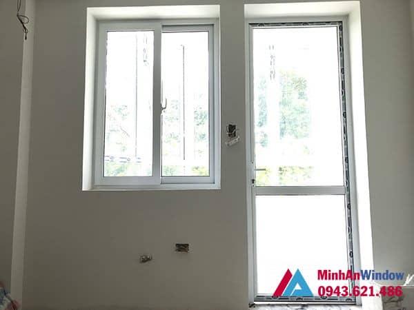Mẫu cửa đi và cửa sổ nhôm kính Minh An Window lắp đặt cho khách hàng tại Sóc Sơn
