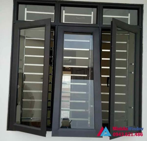 Mẫu cửa sổ nhôm kính 3 cánh Minh An Window lắp đặt cho khách hàng tại huyện Thường Tín