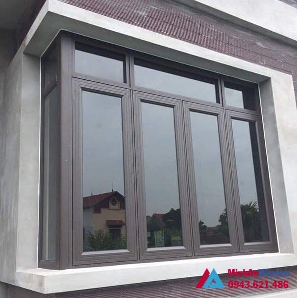 Mẫu cửa sổ nhôm kính Minh An Window lắp đặt cho khách hàng tại huyện Mỹ Đức