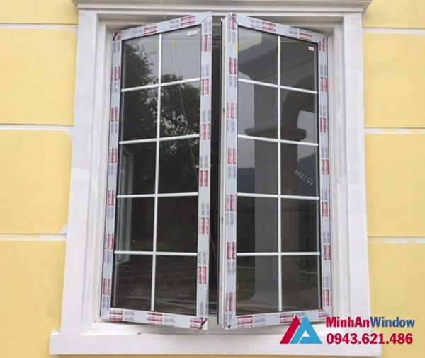 Mẫu cửa sổ nhôm kính mở quay Minh An Window lắp đặt cho khách hàng tại Sóc Sơn