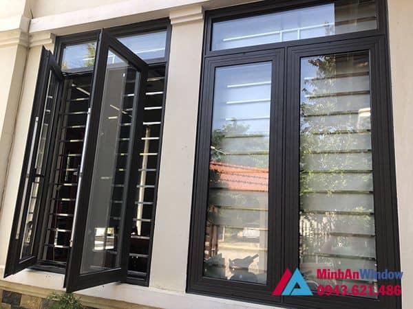Mẫu cửa sổ nhôm kính mở quay Minh An Window lắp đặt cho khách hàng tại huyện Thường Tín