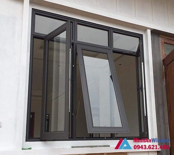 Mẫu cửa sổ nhôm kính Minh An Window lắp đặt cho khách hàng tại Sóc Sơn