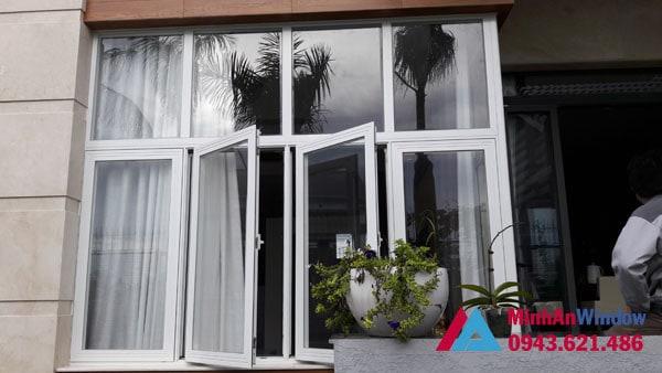 Mẫu cửa sổ nhôm kính màu trắng Minh An Window lắp đặt cho khách hàng tại huyện Mỹ Đức