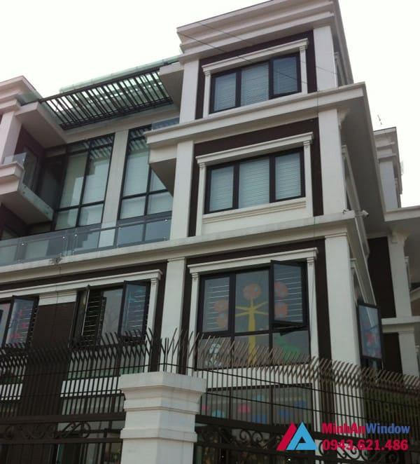 Công trình cửa nhôm kính do Minh An Window lắp đặt cho khách hàng tại huyện Thường Tín