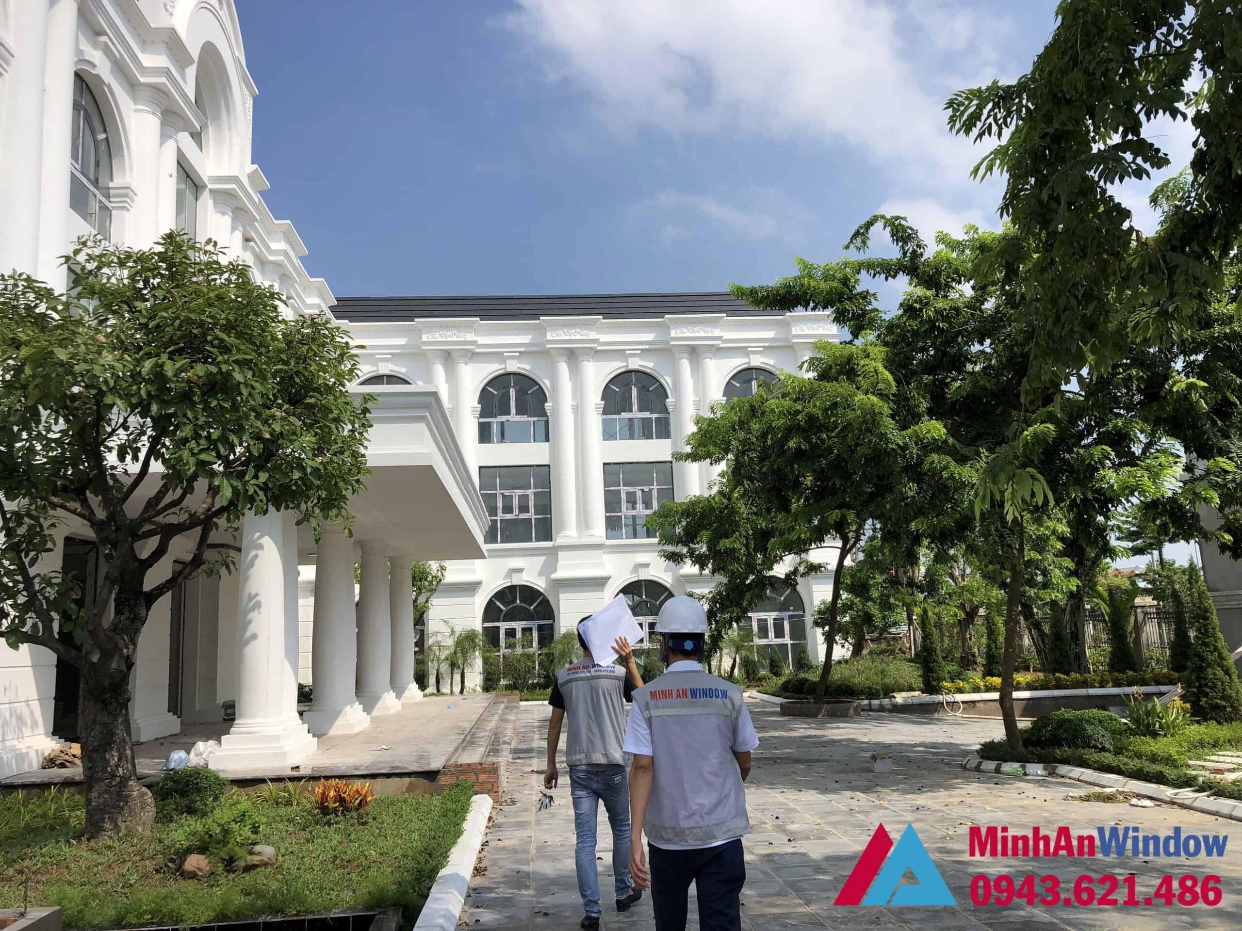Công trình cửa nhôm kính tại KCN Phụng Hiệp - Thạch Thất - Hà Nội do Minh An Window lắp đặt