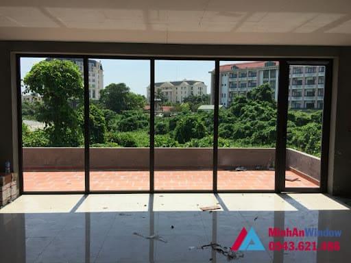 Mẫu cửa nhôm kính tại KCN Đài Tư - Long Biên  do Minh An Window lắp đặt