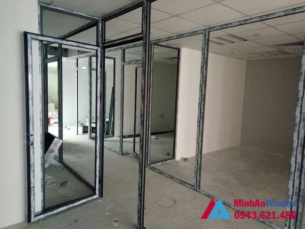 Mẫu cửa nhôm kính Minh An Window lắp đặt tại KCN Thăng Long - Hà Nội