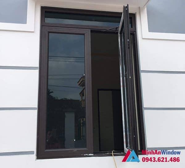 Mẫu cửa sổ nhôm kính mở quay Minh An Window lắp đặt tại KCN Bắc Thường Tín
