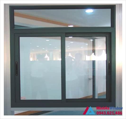 Mẫu cửa sổ nhôm kính xếp trượt Minh An Window lắp đặt tại KCN Thăng Long - Hà Nội