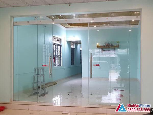 Cửa kính cường lực tại Thái Nguyên - Minh An Window đã thi công
