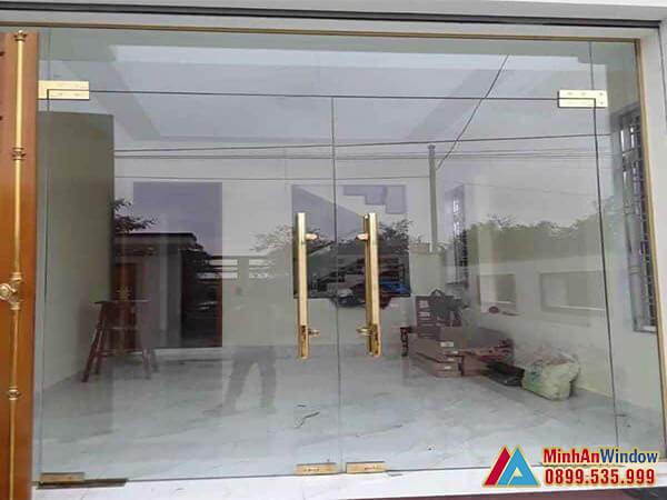 Cửa kính cường lực tại Thái Nguyên cao cấp - Minh An Window đã thi công