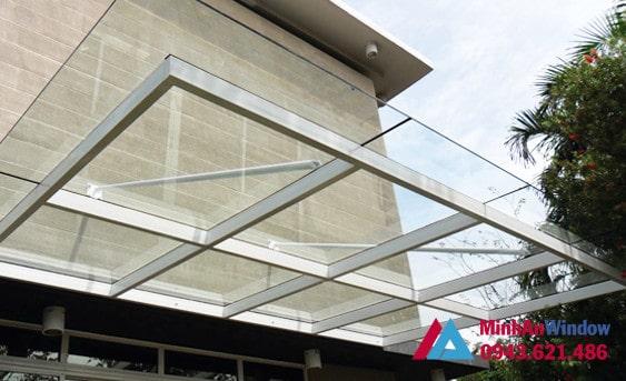 Mẫu mái kính được khách hàng tại quận Cầu Giấy lựa chọn nhiều nhất