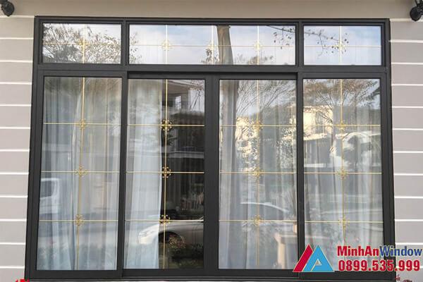 Mẫu cửa sổ nhôm kính đẩy ngang 4 cánh do Minh An Window lắp đặt