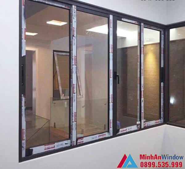 Mẫu cửa sổ nhôm kính sử dụng khung nhôm Xingfa chắc chắn