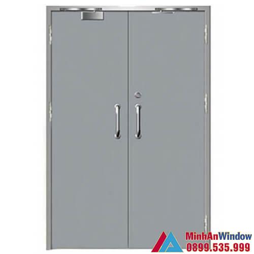 Mẫu cửa thép chống cháy 2 cánh do Minh An Window thiết kế và lắp đặt