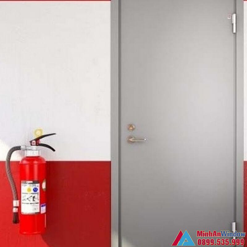 Mẫu cửa thép chống cháy cao cấp do Minh An Window lắp đặt