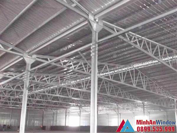 Sản phẩm mái tôn Minh An Window lắp đặt cho khu công nghiệp
