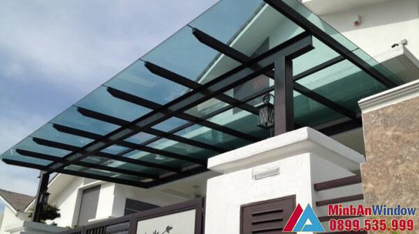 Mái kính biệt thự bền đẹp - Minh An Window thi công và lắp đặt